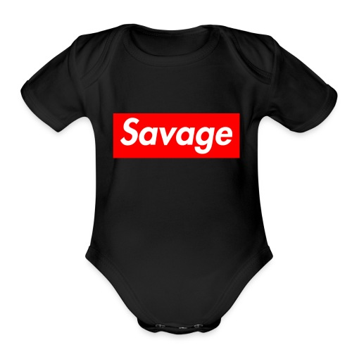 wear the savage things - Organic Short Sleeve Baby Bodysuit