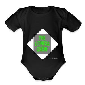 Litness crew sweaters - Short Sleeve Baby Bodysuit