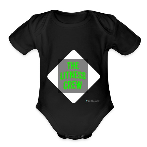 Litness crew sweaters - Organic Short Sleeve Baby Bodysuit