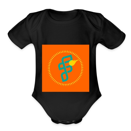 Furious Dragon logo - Organic Short Sleeve Baby Bodysuit