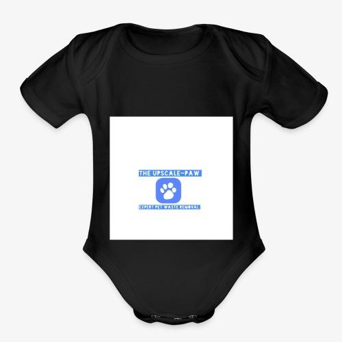 upscale logo airbrush - Organic Short Sleeve Baby Bodysuit