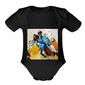 santasia sanatashia - Short Sleeve Baby Bodysuit
