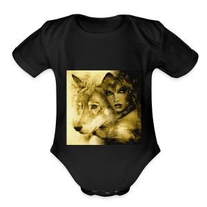 Wolfgirl - Short Sleeve Baby Bodysuit