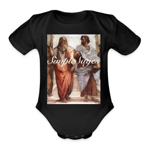OG Simple Sages - Organic Short Sleeve Baby Bodysuit