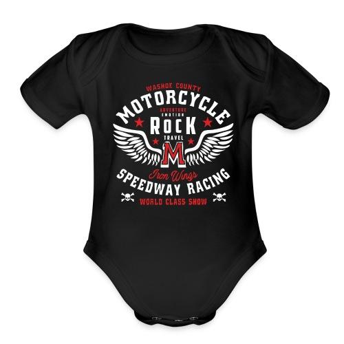 MOTORCYCLE SPEED RACING - Organic Short Sleeve Baby Bodysuit
