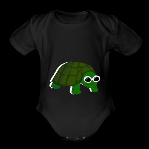 Clout Turtle - Organic Short Sleeve Baby Bodysuit