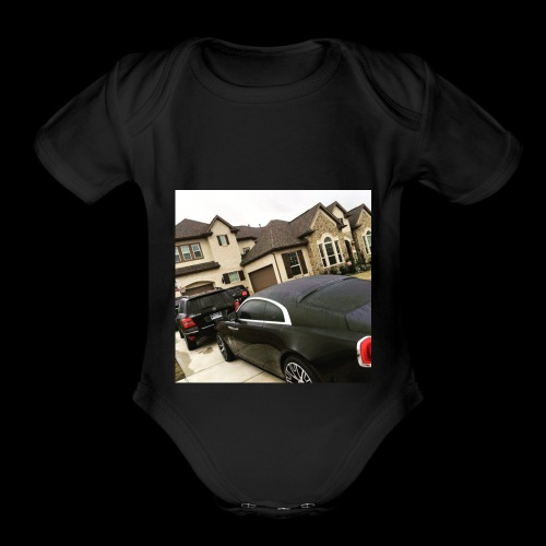 LargeLife.inc Motivational Shirt. - Organic Short Sleeve Baby Bodysuit