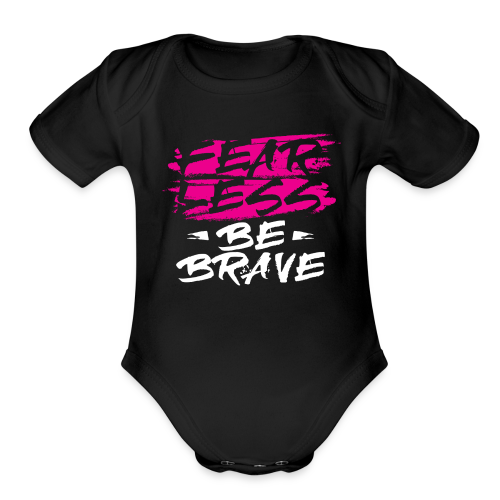 Fearless Pink Tees and Accessories - Organic Short Sleeve Baby Bodysuit