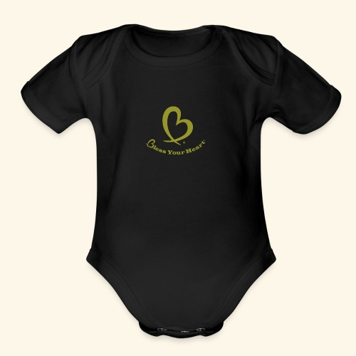 Bless Your Heart® Yellow - Organic Short Sleeve Baby Bodysuit