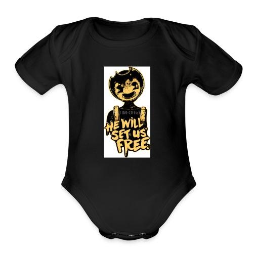 Bendy Merch (SUB FOR MY YT CHANNEL!) - Organic Short Sleeve Baby Bodysuit