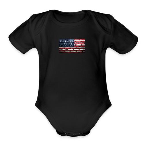 Trump Wall - Organic Short Sleeve Baby Bodysuit