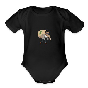 Thief in the night - Short Sleeve Baby Bodysuit