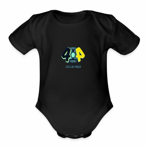 404 Logo - Organic Short Sleeve Baby Bodysuit