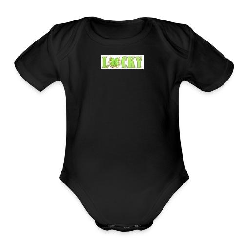 lucky - Organic Short Sleeve Baby Bodysuit