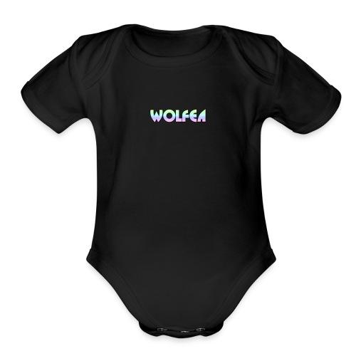 wolfea logo - Organic Short Sleeve Baby Bodysuit