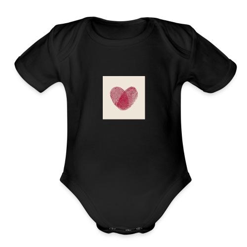Heart Collection - Organic Short Sleeve Baby Bodysuit