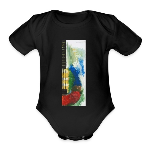 Guitar - Organic Short Sleeve Baby Bodysuit