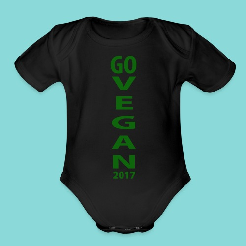 Go_Vegan_2017 - Organic Short Sleeve Baby Bodysuit