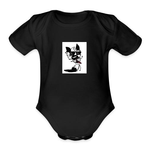 #meme aurora - Organic Short Sleeve Baby Bodysuit