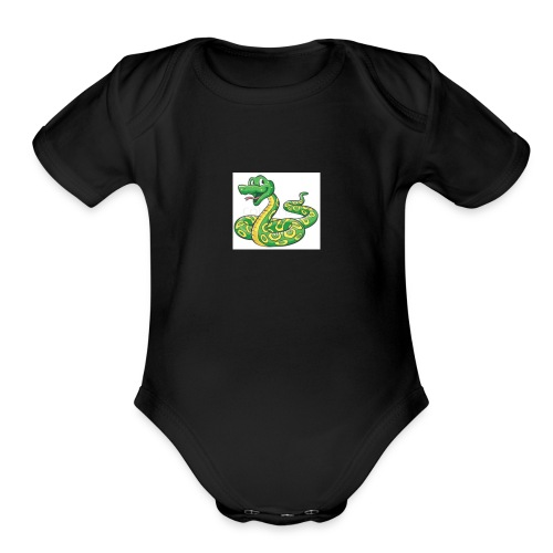 Cartoon snake - Organic Short Sleeve Baby Bodysuit