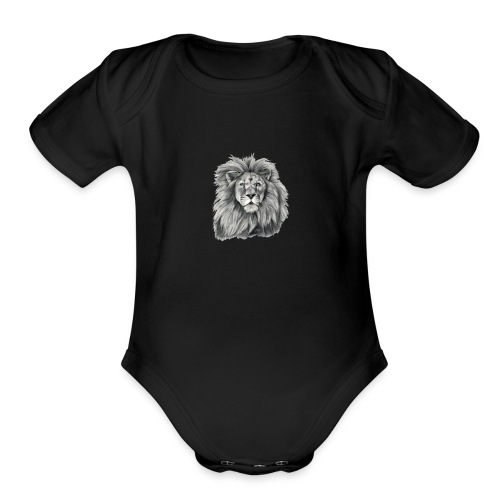 Be A Lion - Organic Short Sleeve Baby Bodysuit