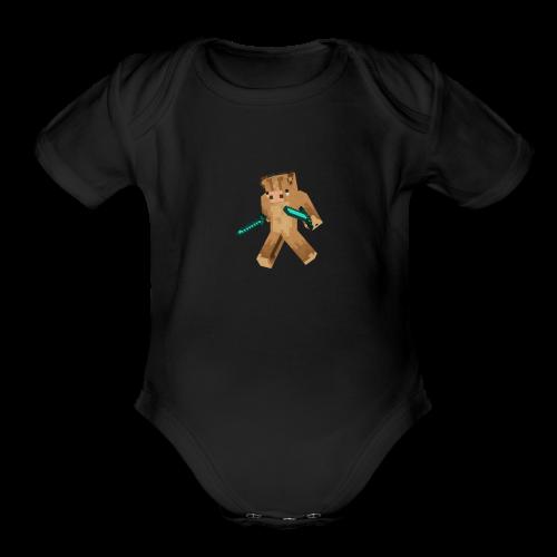 Cosmic Arrdvark Standard merch - Organic Short Sleeve Baby Bodysuit