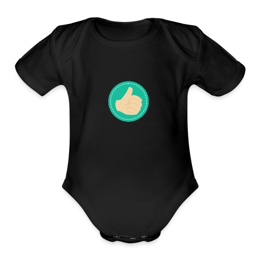 Thumb Up - Organic Short Sleeve Baby Bodysuit