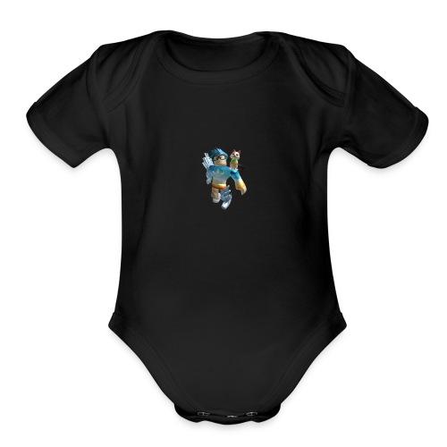 cool printing - Organic Short Sleeve Baby Bodysuit