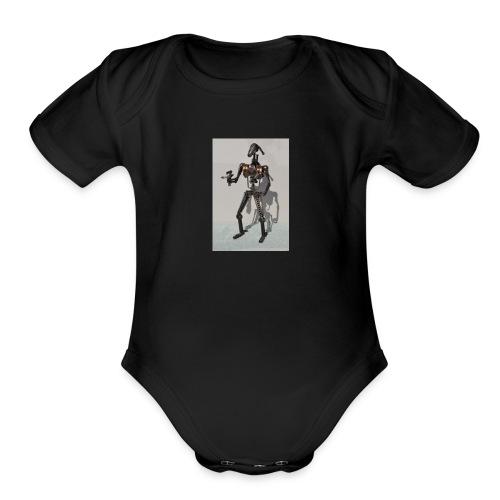 DROIDDROIDDROIDDROIDDROIDDROIDDROIDDROIDDROIDDROID - Organic Short Sleeve Baby Bodysuit