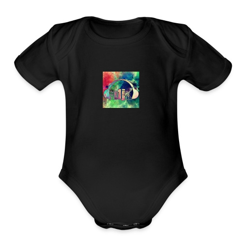 DJ Egelhoff Merch - Organic Short Sleeve Baby Bodysuit