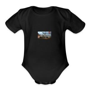 bandana of war - Short Sleeve Baby Bodysuit