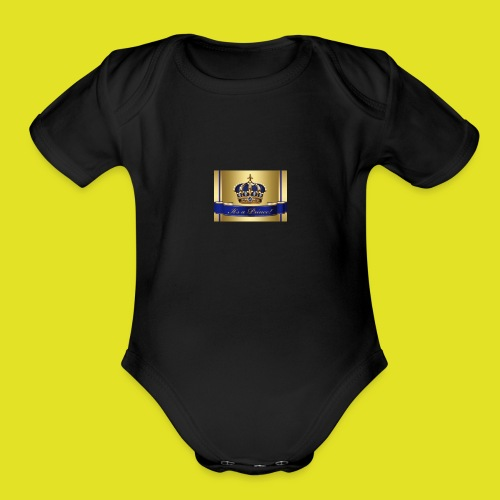 King of prince - Organic Short Sleeve Baby Bodysuit