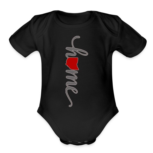Home Heart Ohio - Organic Short Sleeve Baby Bodysuit