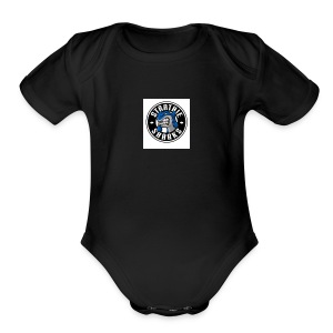 SHARK - Short Sleeve Baby Bodysuit