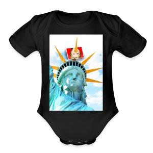 Lady Liberty Spikes Hillary - Short Sleeve Baby Bodysuit