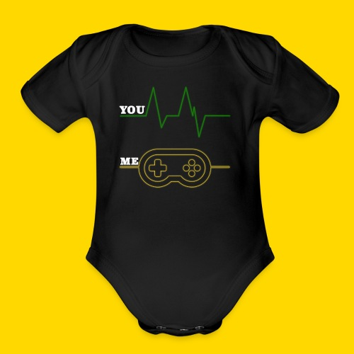 Gamer Heart beat - Organic Short Sleeve Baby Bodysuit