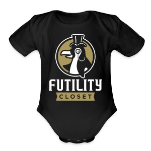Futility Closet Logo - Reversed - Short Sleeve Baby Bodysuit
