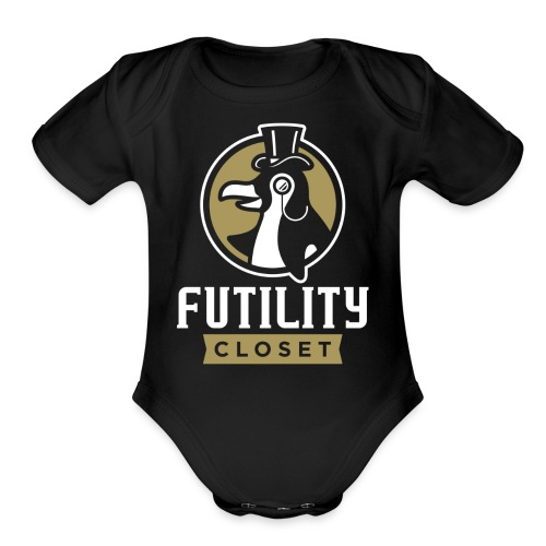 Futility Closet Logo - Reversed - Organic Short Sleeve Baby Bodysuit
