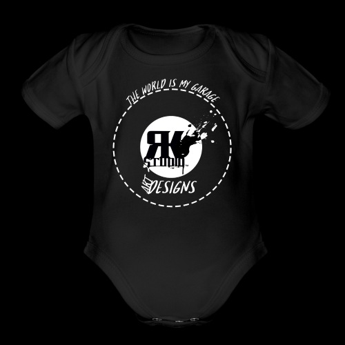 The World is My Garage - Organic Short Sleeve Baby Bodysuit