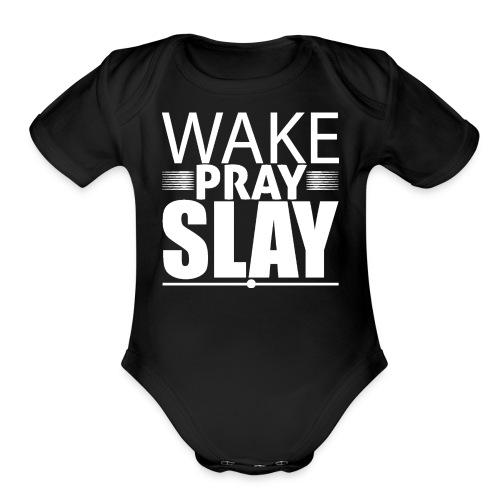 wakeprayslay - Organic Short Sleeve Baby Bodysuit