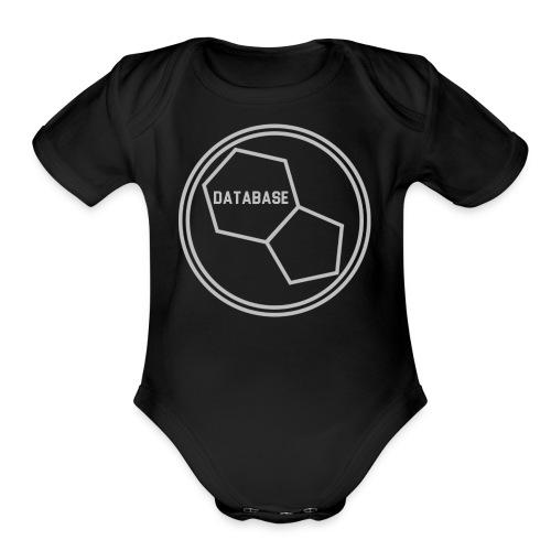 DATABASE [Light Grey] - Organic Short Sleeve Baby Bodysuit