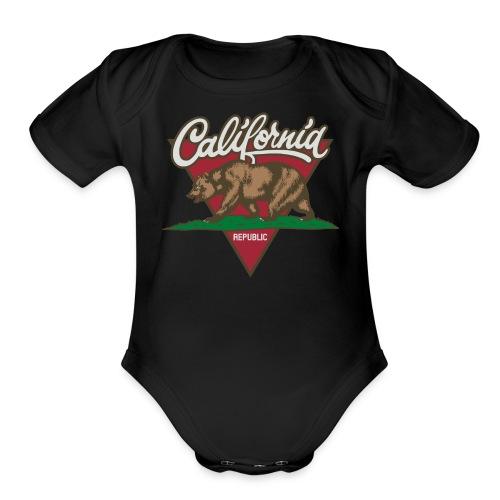 California Republic - Organic Short Sleeve Baby Bodysuit