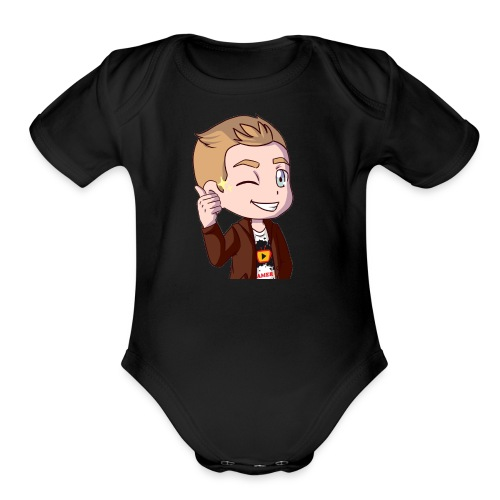 Beamer64 wink - Organic Short Sleeve Baby Bodysuit