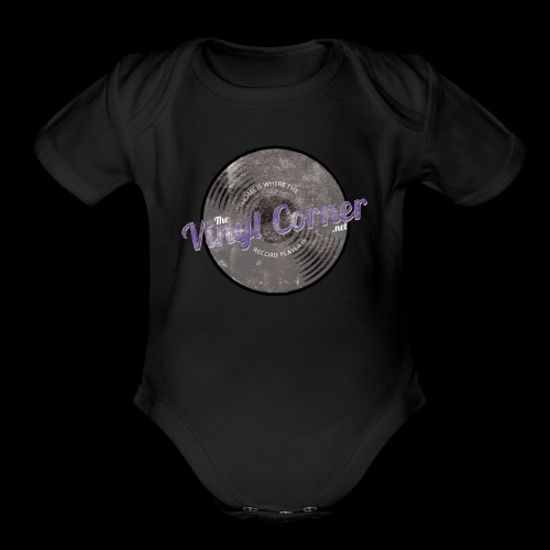 The Vinyl Corner - Deep purple - Organic Short Sleeve Baby Bodysuit