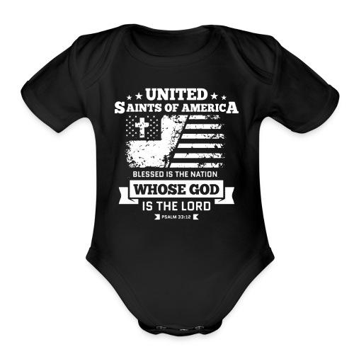 UnitedSaintsOfAmerica DesignHD 1 - Organic Short Sleeve Baby Bodysuit