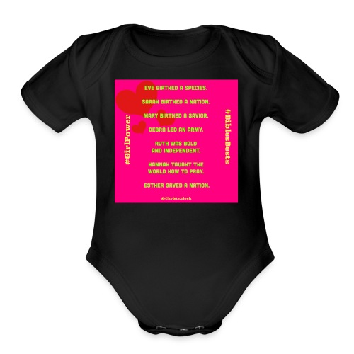 Girl Power Bible's Best - Organic Short Sleeve Baby Bodysuit