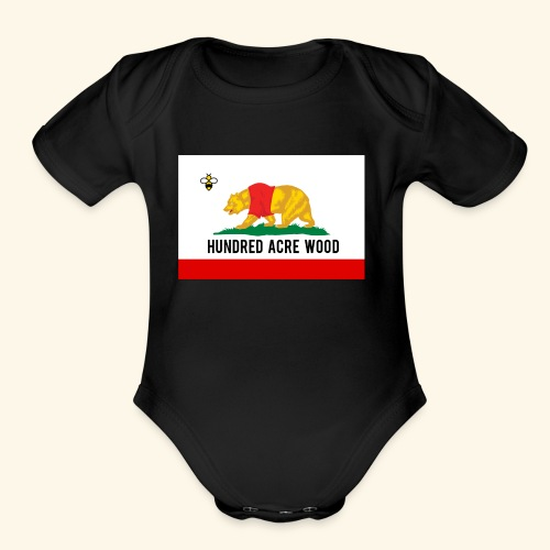 Golden Honey State - Organic Short Sleeve Baby Bodysuit