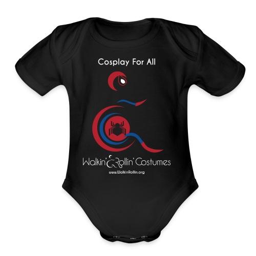 Cosplay For All: Spiderman - Organic Short Sleeve Baby Bodysuit