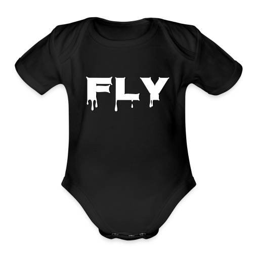 Fly T-shirt - Organic Short Sleeve Baby Bodysuit