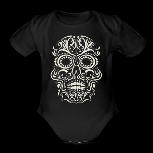 Sugar Skull Calavera - Organic Short Sleeve Baby Bodysuit